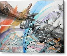 Acrylic Print featuring the painting Metamorphosis by J- J- Espinoza