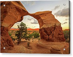 Metate Arch Acrylic Print by Johnny Adolphson
