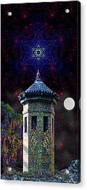 Acrylic Print featuring the digital art Metatron Nocturnal by Iowan Stone-Flowers