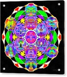 Acrylic Print featuring the digital art Metatron's Cosmic Ascension by Derek Gedney