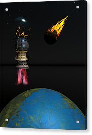 Meteor Chaser Acrylic Print by Claude McCoy