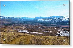 Methow Valley From Above Winthrop Landscape Photography By Omash Acrylic Print by Omaste Witkowski