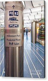 Metra Electric Line Column Sign Acrylic Print