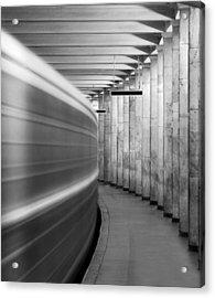 Metro #0110 Acrylic Print by Andrey Godyaykin