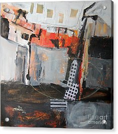 Metro Abstract Acrylic Print by Ron Stephens