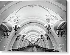 Acrylic Print featuring the photograph Metro Arbatskaya by Delphimages Photo Creations