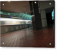 Metro Motion Acrylic Print by Sean Owens