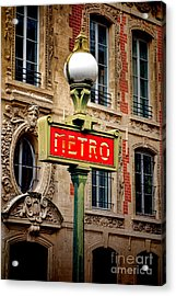 Metro Acrylic Print by Olivier Le Queinec
