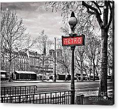 Metro Pont Marie 8x10 Acrylic Print