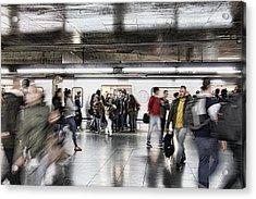 Acrylic Print featuring the photograph Metro Rush by Kim Wilson