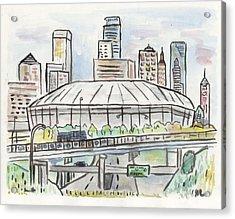 Metrodome Acrylic Print by Matt Gaudian