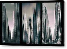 Metropolis Triptych 3 Acrylic Print by Jessica Jenney
