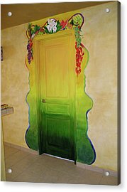 Mexican Blanket Door Mural Acrylic Print by Patty Rebholz