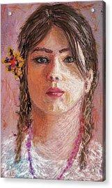 Mexican Girl Acrylic Print