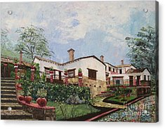 Mexican Hacienda After The Rain Acrylic Print