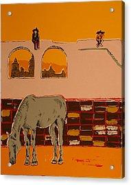 Mexican Landscape Acrylic Print by Biagio Civale