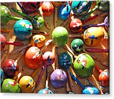 Mexican Maracas Acrylic Print by Methune Hively