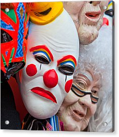 Mexican Masks Acrylic Print by Art Block Collections