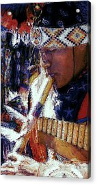 Acrylic Print featuring the photograph Mexican Street Musician by Lori Seaman