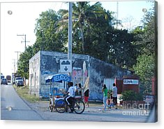 Mexican Street Vendor Acrylic Print by Denise Keough