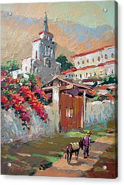 Mexican Village 1 Acrylic Print by Dmitry Spiros