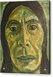 Mexican Woman Acrylic Print by Biagio Civale