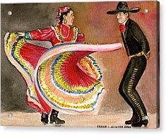 Mexico City Ballet Folklorico Acrylic Print by Frank Hunter