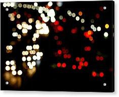 Mexico City De Noche Acrylic Print by Carmen Sandoval
