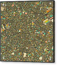 Mexico City Map Acrylic Print