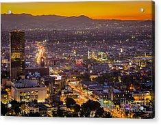 Mexico City Sunset Acrylic Print