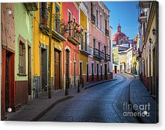 Mexico Street Acrylic Print by Inge Johnsson