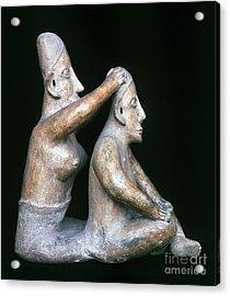 Mexico: Totonac Figures Acrylic Print by Granger