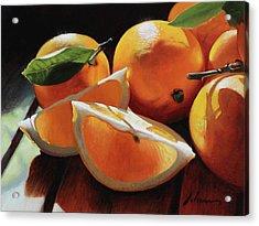Meyer Lemons Acrylic Print by Michael Lynn Adams