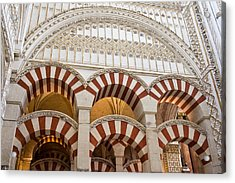 Mezquita Cathedral Architectural Details Acrylic Print by Artur Bogacki