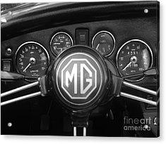 Mg Midget Dashboard Acrylic Print