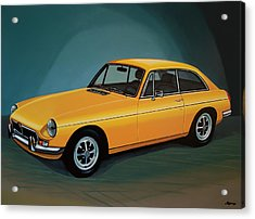 Mgb Gt 1966 Painting  Acrylic Print by Paul Meijering