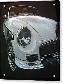 Acrylic Print featuring the painting MGB by Richard Le Page