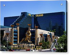 Mgm Grand Hotel Casino Acrylic Print by Mariola Bitner