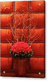 Mgm Red Rose Display Acrylic Print by Linda Phelps