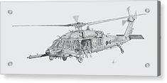 Mh60 With Gun Acrylic Print