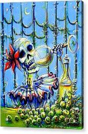 Acrylic Print featuring the painting Mi Chardonnay by Heather Calderon