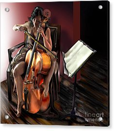 Mi Chica - Solace In The Unseen Acrylic Print by Reggie Duffie