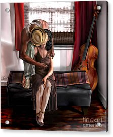 Mi Chica-amo A Mi Esposita  Acrylic Print by Reggie Duffie