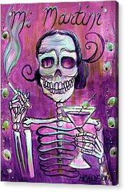 Mi Martini Acrylic Print by Heather Calderon