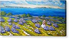 Mia On The Lavenders Field Acrylic Print