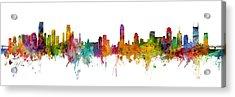 Miami And Nashville Skylines Mashup Acrylic Print