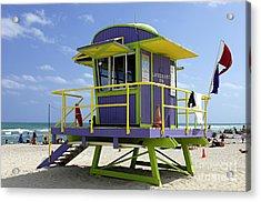 Miami Beach Acrylic Print by Bob Christopher