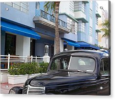 Acrylic Print featuring the photograph Miami Beach by Mary-Lee Sanders