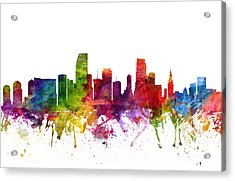Miami Cityscape 06 Acrylic Print by Aged Pixel