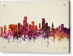 Miami Cityscape 09 Acrylic Print by Aged Pixel